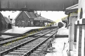 Wareham Railway Station Photo. Hamworthy to Wool and Swanage Lines. L&SWR. (11)