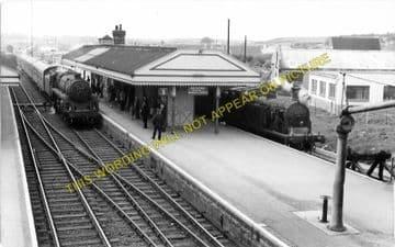 Wareham Railway Station Photo. Hamworthy to Wool and Swanage Lines. L&SWR. (2)