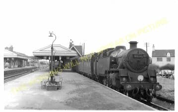 Wareham Railway Station Photo. Hamworthy to Wool and Swanage Lines. L&SWR. (3)