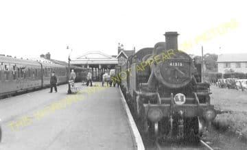 Wareham Railway Station Photo. Hamworthy to Wool and Swanage Lines. L&SWR. (4)