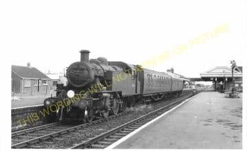 Wareham Railway Station Photo. Hamworthy to Wool and Swanage Lines. L&SWR. (5)