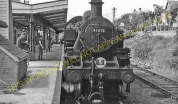 Wareham Railway Station Photo. Hamworthy to Wool and Swanage Lines. L&SWR. (7)