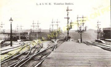 Waterloo Railway Station Photo. London & South Western Railway. (2)