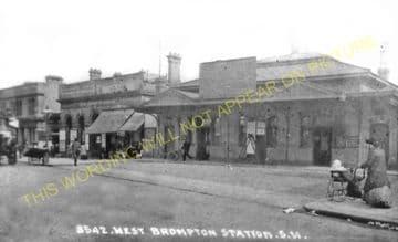 West Brompton Railway Station Photo. Kensington - Chelsea & Fulham. (4).