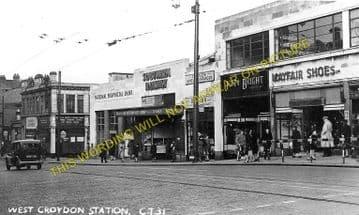 West Croydon Railway Station Photo. Norwood Junction - Sutton. LB&SCR. (1)