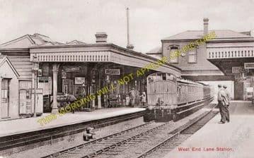 West End Lane Railway Station Photo. Finchley Road - Brondesbury. L&NWR. (1)
