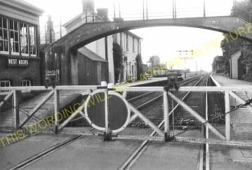 West Moors Railway Station Photo. Wimborne to Verwood and Ringwood Lines. (14)