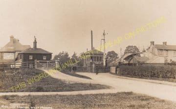 West Moors Railway Station Photo. Wimborne to Verwood and Ringwood Lines. (18)