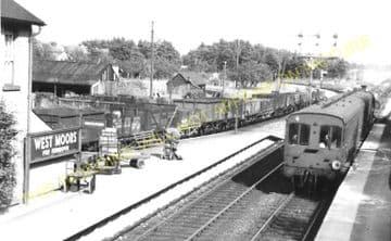 West Moors Railway Station Photo. Wimborne to Verwood and Ringwood Lines. (2)