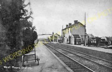 West Moors Railway Station Photo. Wimborne to Verwood and Ringwood Lines. (20).