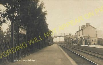 West Moors Railway Station Photo. Wimborne to Verwood and Ringwood Lines. (21).
