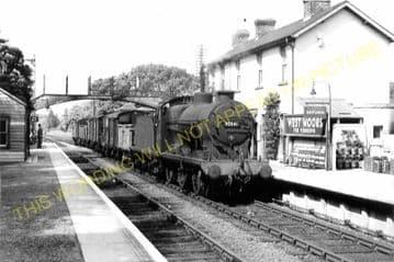West Moors Railway Station Photo. Wimborne to Verwood and Ringwood Lines. (4)
