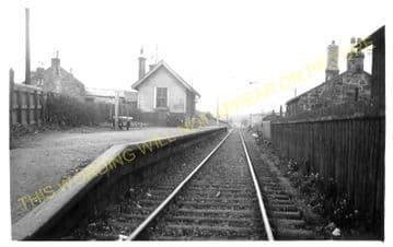 Westfield Railway Station Photo. Blackstone - Bathgate. North British Railway (1