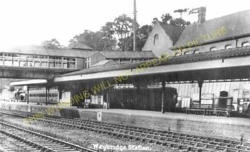 Weybridge Railway Station Photo. Walton - Byfleet. Esher to Woking Line. (5).
