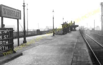 Whifflet High Level Railway Station Photo. Coatbridge Area. Caledonian Rly. (1)..