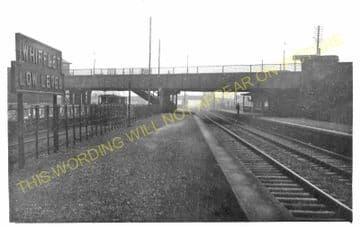 Whifflet Low Level Railway Station Photo. Coatbridge Area. Caledonian Rly. (1)..