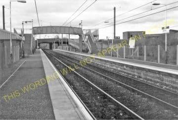 Whifflet Low Level Railway Station Photo. Coatbridge Area. North British Rly (3)