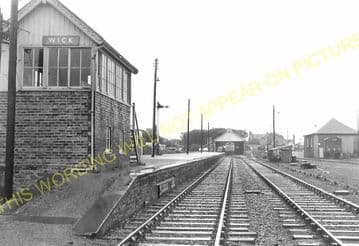 Wick Railway Station Photo. Georgemas and Lybster Lines. Highland Railway. (19)