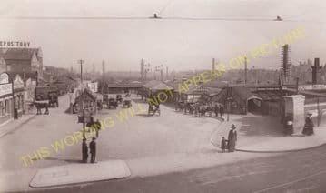 Wimbledon Railway Station Photo. London & South Western Railway. (1)..