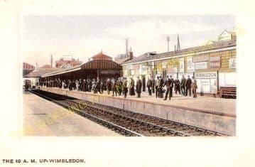 Wimbledon Railway Station Photo. London & South Western Railway. (7)