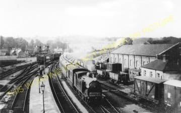 Wimborne Railway Station Photo. West Moors - Broadstone. Bournemouth Line. (4)..
