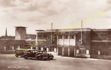 Woking Railway Station Photo. Byfleet to Brookwood and Worplesdon Lines. (11)