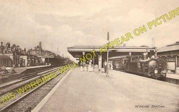 Woking Railway Station Photo. Byfleet to Brookwood and Worplesdon Lines. (2)