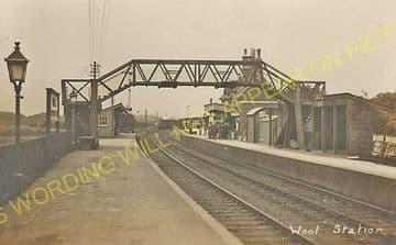 Wool Railway Station Photo. Wareham - Moreton. Bournemouth to Dorchester. (11)