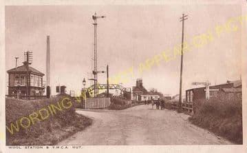 Wool Railway Station Photo. Wareham - Moreton. Bournemouth to Dorchester. (3)