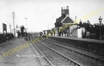 Wool Railway Station Photo. Wareham - Moreton. Bournemouth to Dorchester. (5)