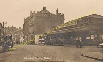 Woolwich Arsenal Railway Station Photo. Charlton - Plumstead. Greenwich Line (12).