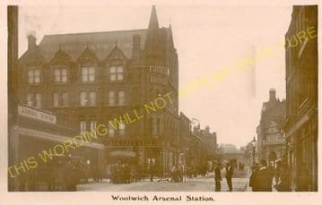 Woolwich Arsenal Railway Station Photo. Charlton - Plumstead. Greenwich Line (13).