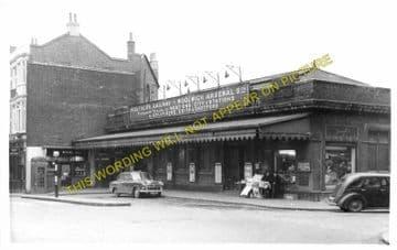 Woolwich Arsenal Railway Station Photo. Charlton - Plumstead. Greenwich Line (5)