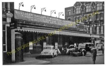 Woolwich Arsenal Railway Station Photo. Charlton - Plumstead. Greenwich Line (6)