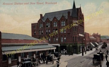 Woolwich Arsenal Railway Station Photo. Charlton - Plumstead. Greenwich Line (7)