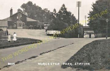 Worcester Park Railway Station Photo. Motspur Park - Ewell. Epsom Line. LSWR (5).