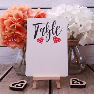 10 Blank Table Numbers With Rounded Corners - Easy To Write On - Write Your Own