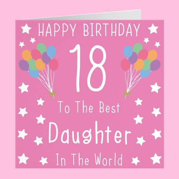 Daughter 18th Birthday Card | Hunts England