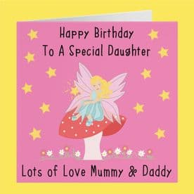 Daughter Birthday Card - Happy Birthday To A Special Daughter - Lots Of Love Mummy & Daddy