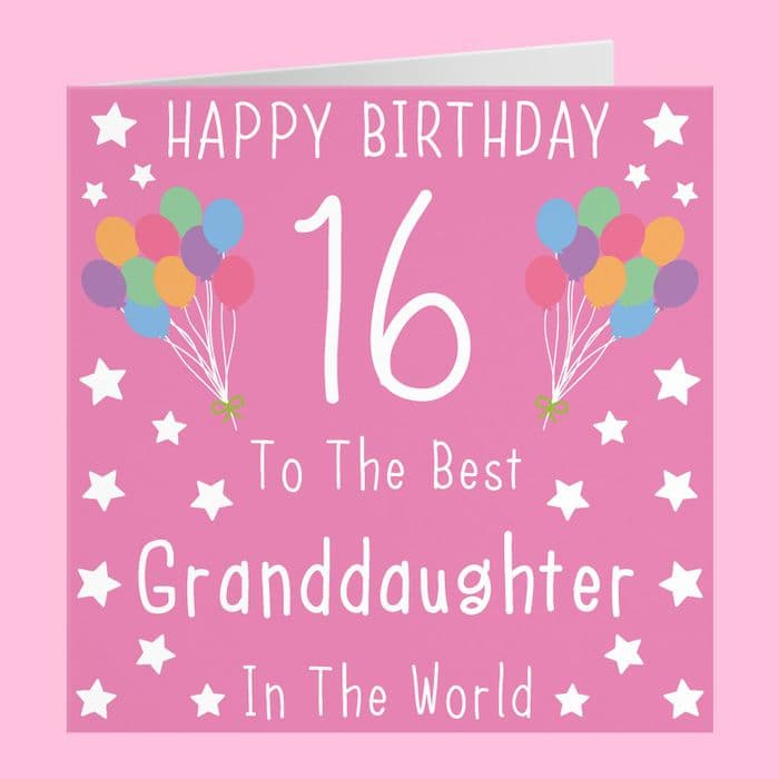 Granddaughter 16th Birthday Card | Hunts England