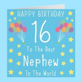 Nephew 16th Birthday Card - To The Best Nephew In The World - Iconic Collection