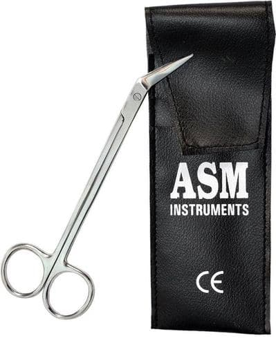 ASM® Extra Long Thick Toe Nail Scissors Clipper Cutter Chiropody Podiatry Pouch