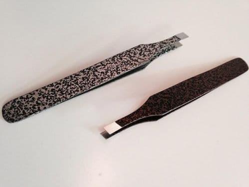 Beautik Salon Eyebrow Slanted Tweezers Stainless Steel Tweezers For Professional