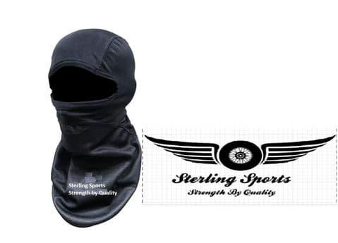Black Windproof Motorcycle Balaclava Motorbike Helmet Winter Bike Face Thermal