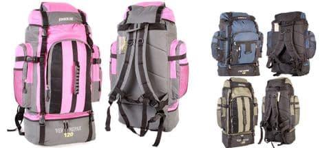 Borderline XLarge 120L Travel Hiking Camping Festival Luggage Rucksack Backpack