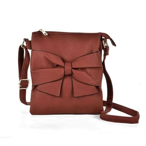 Brand New PU Leather Zip Cross Body With Bag, Womens Leather Handbag