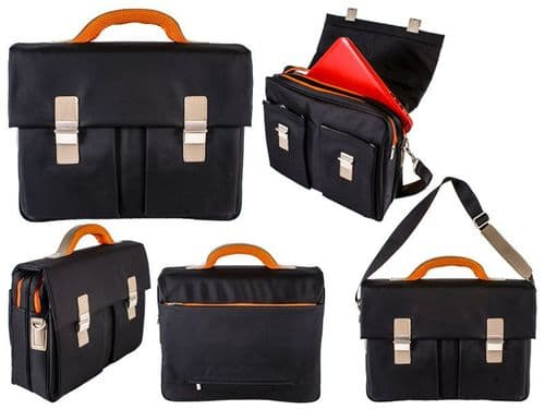 Business Executive Elegant Office Nylon Briefcase Laptop High Quality Black Bag