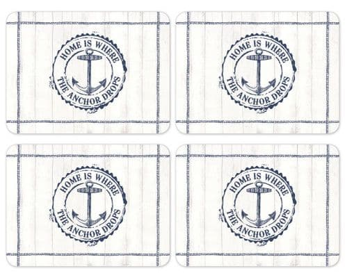 Cooksmart Coastal Home Pack of 4 Placemats Table Setting Place Mats Dining Room