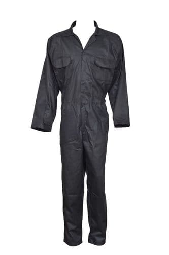 Heavy Duty Boiler Suit Overall Coverall Engineer Mechanic Student Trousers Black