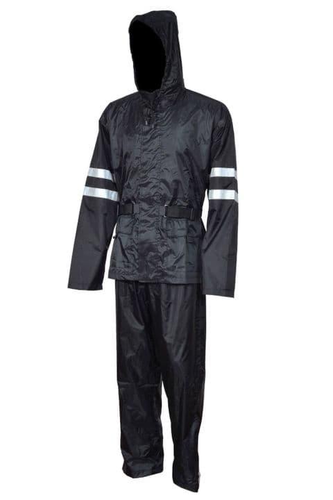 Heavyduty Hi Vis Rain Suit Waterproof Jacket Trousers Set Mens Rain Coat Working